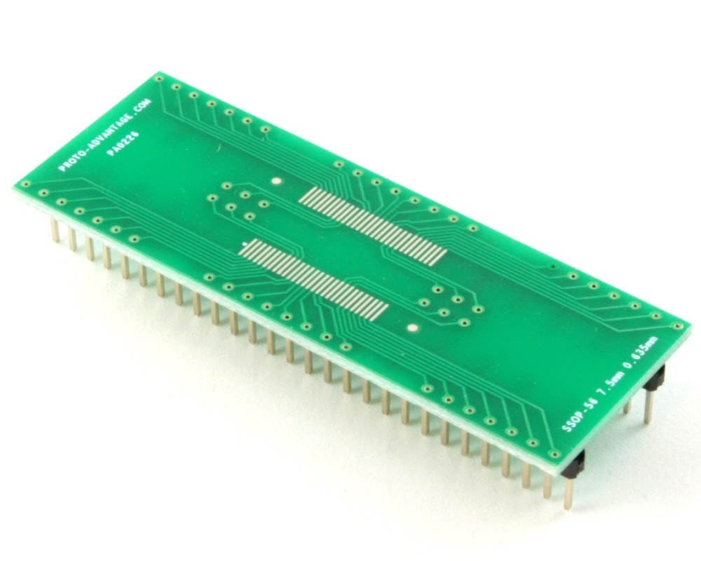 Ssop 56 to dip 56 smt adapter mm pitch 7 5 mm body for 56 635