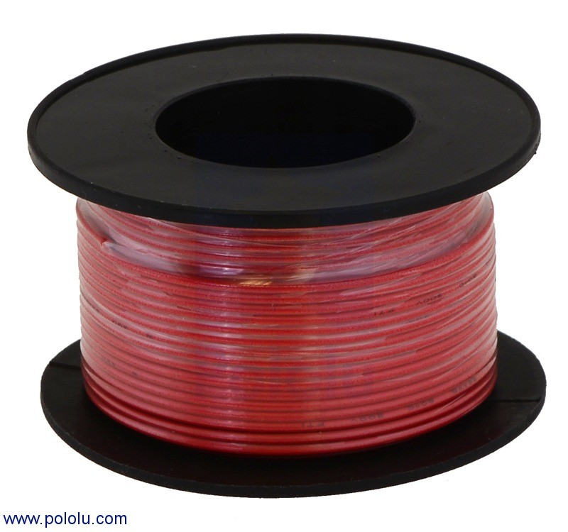Stranded Wire: Red, 26 AWG, 70 Feet
