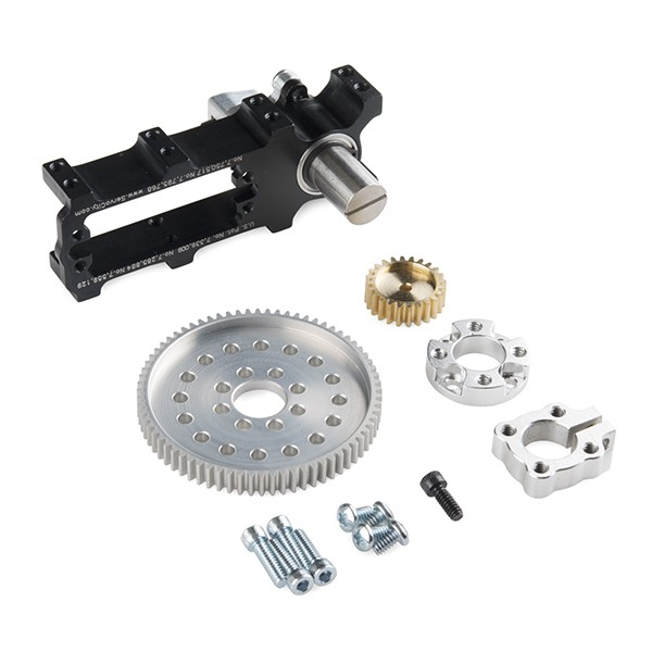 Channel Mount Gearbox Kit - Standard Rotation (3:1 Ratio)