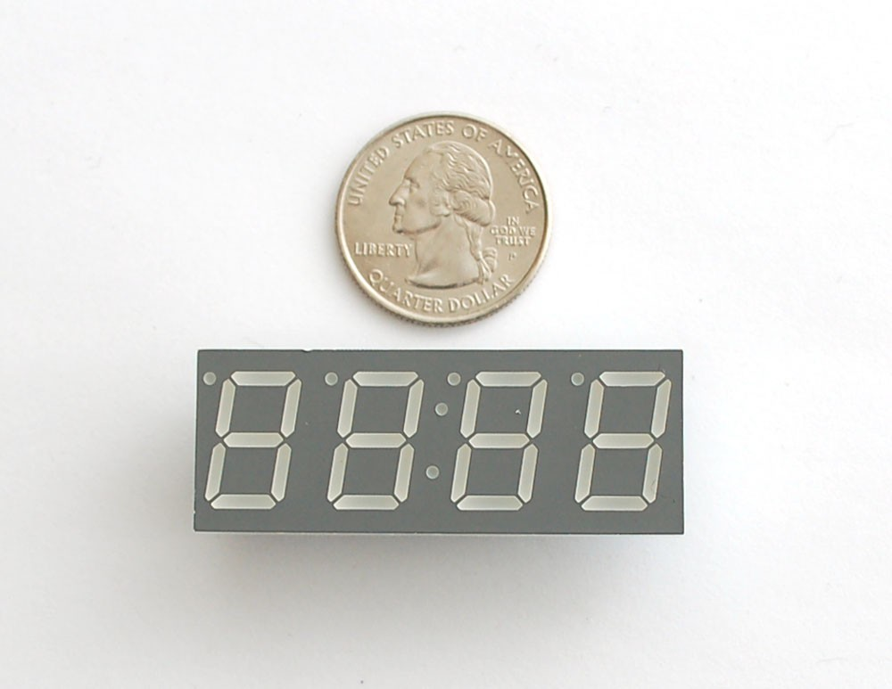 "Blue 7-segment 4 Digit display - 0.56"" digit height"