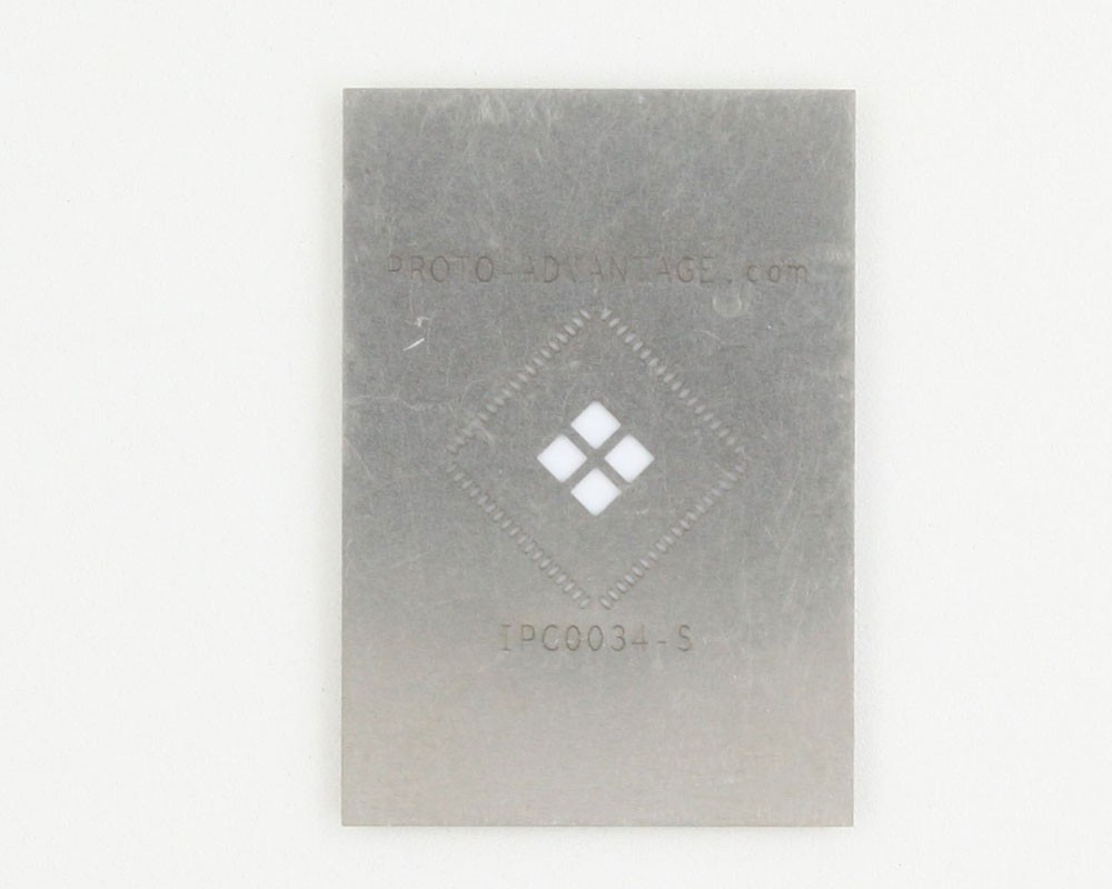 QFN-72 (0.5 mm pitch, 10 x 10 mm body, 4.7 x 4.7 mm pad) Stainless Steel Stencil