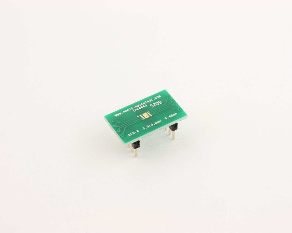 DFN-8 to DIP-12 SMT Adapter (0.65 mm pitch, 3.0 x 3.0 mm body)
