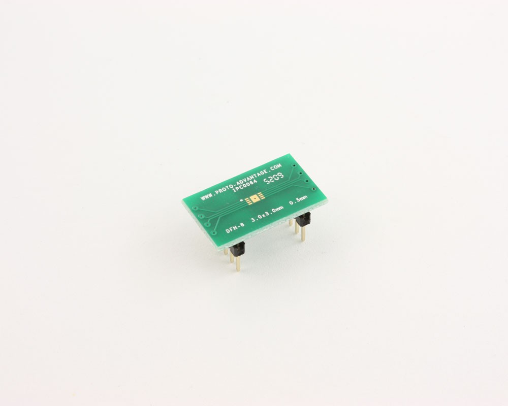DFN-8 to DIP-12 SMT Adapter (0.5 mm pitch, 3.0 x 3.0 mm body)