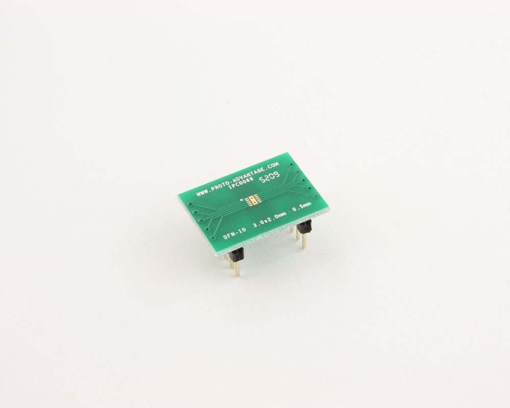 DFN-10 to DIP-14 SMT Adapter (0.5 mm pitch, 3.0 x 2.0 mm body)