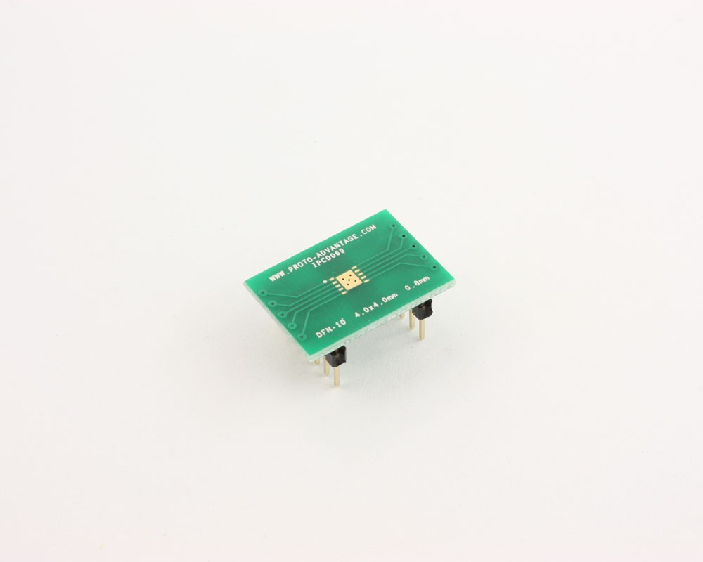 DFN-10 to DIP-14 SMT Adapter (0.8 mm pitch, 4.0 x 4.0 mm body)