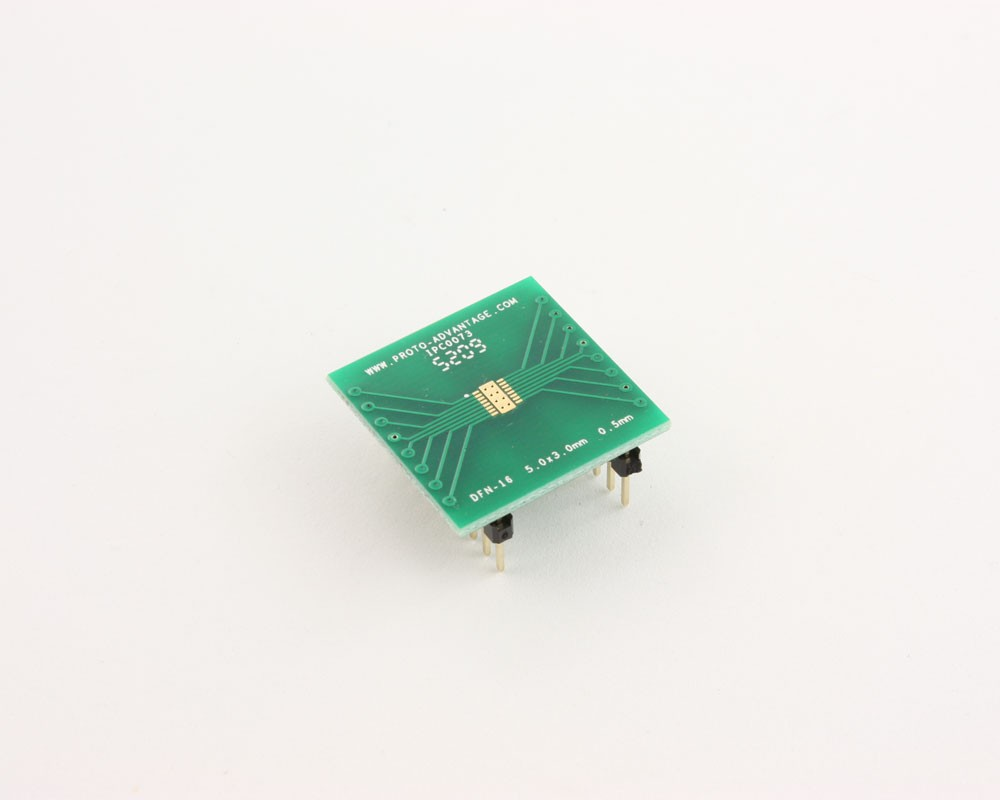 DFN-16 to DIP-20 SMT Adapter (0.5 mm pitch, 5.0 x 3.0 mm body)