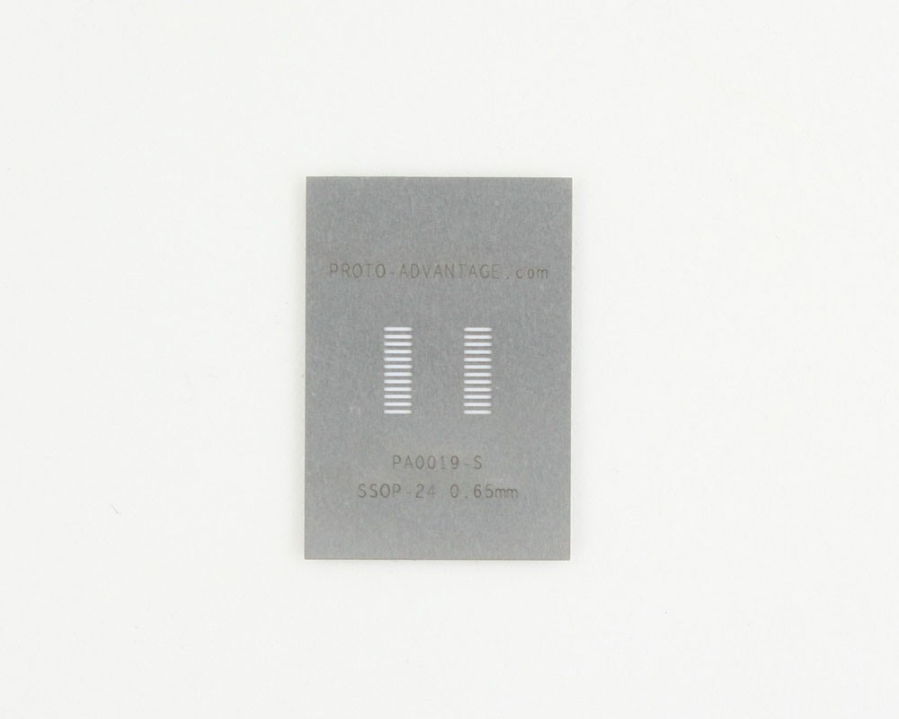 SSOP-24 (0.65 mm pitch) Stainless Steel Stencil