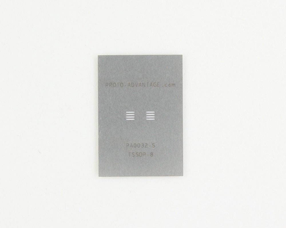 TSSOP-8 (0.65 mm pitch) Stainless Steel Stencil
