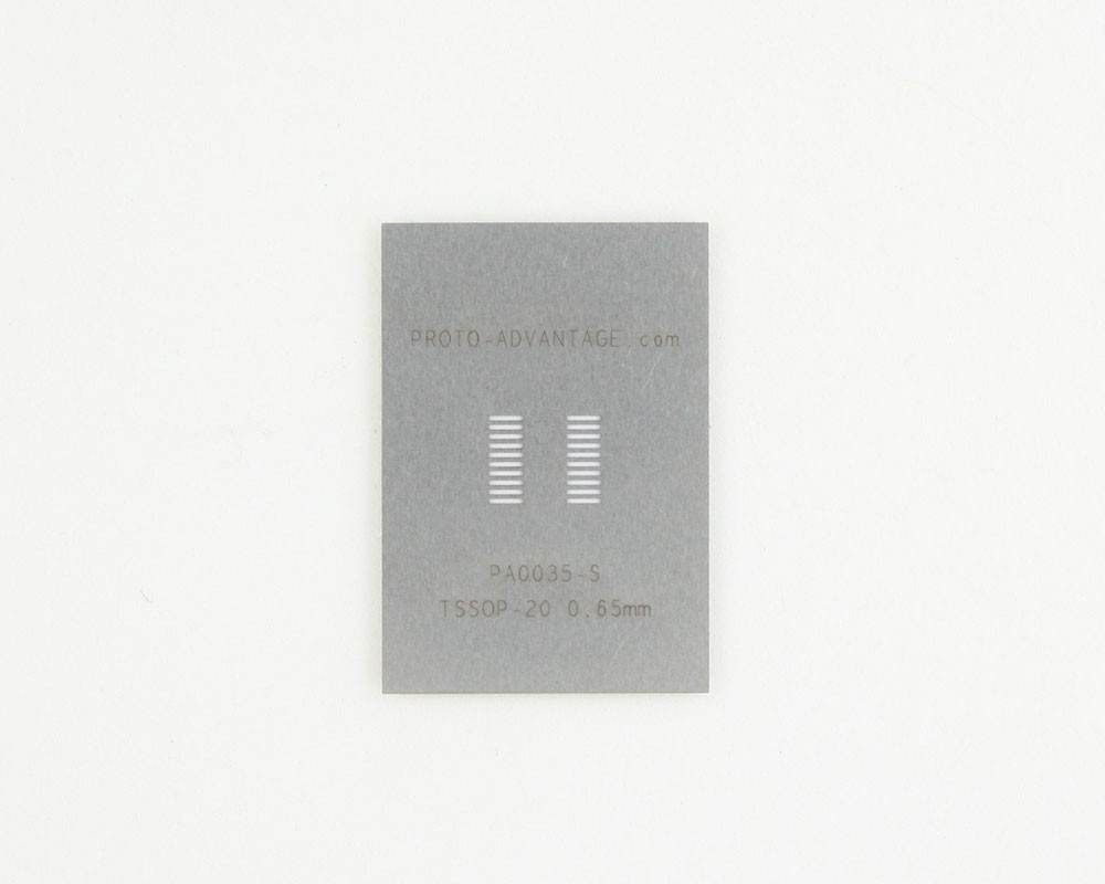TSSOP-20 (0.65 mm pitch) Stainless Steel Stencil