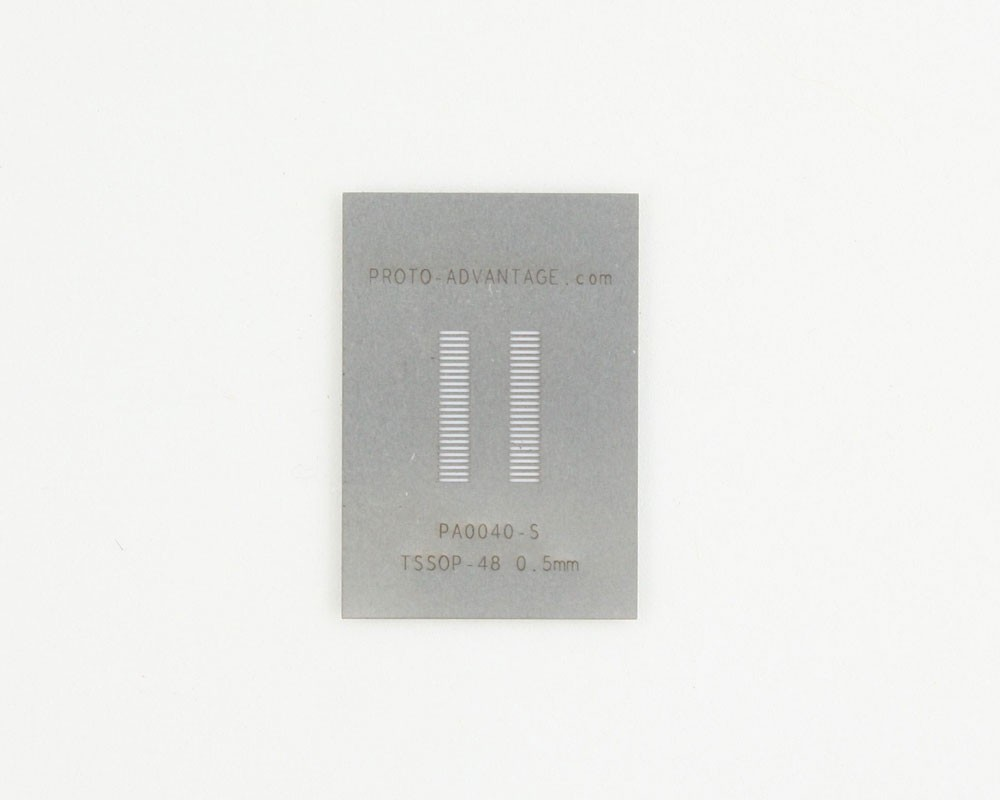 TSSOP-48 (0.5 mm pitch) Stainless Steel Stencil