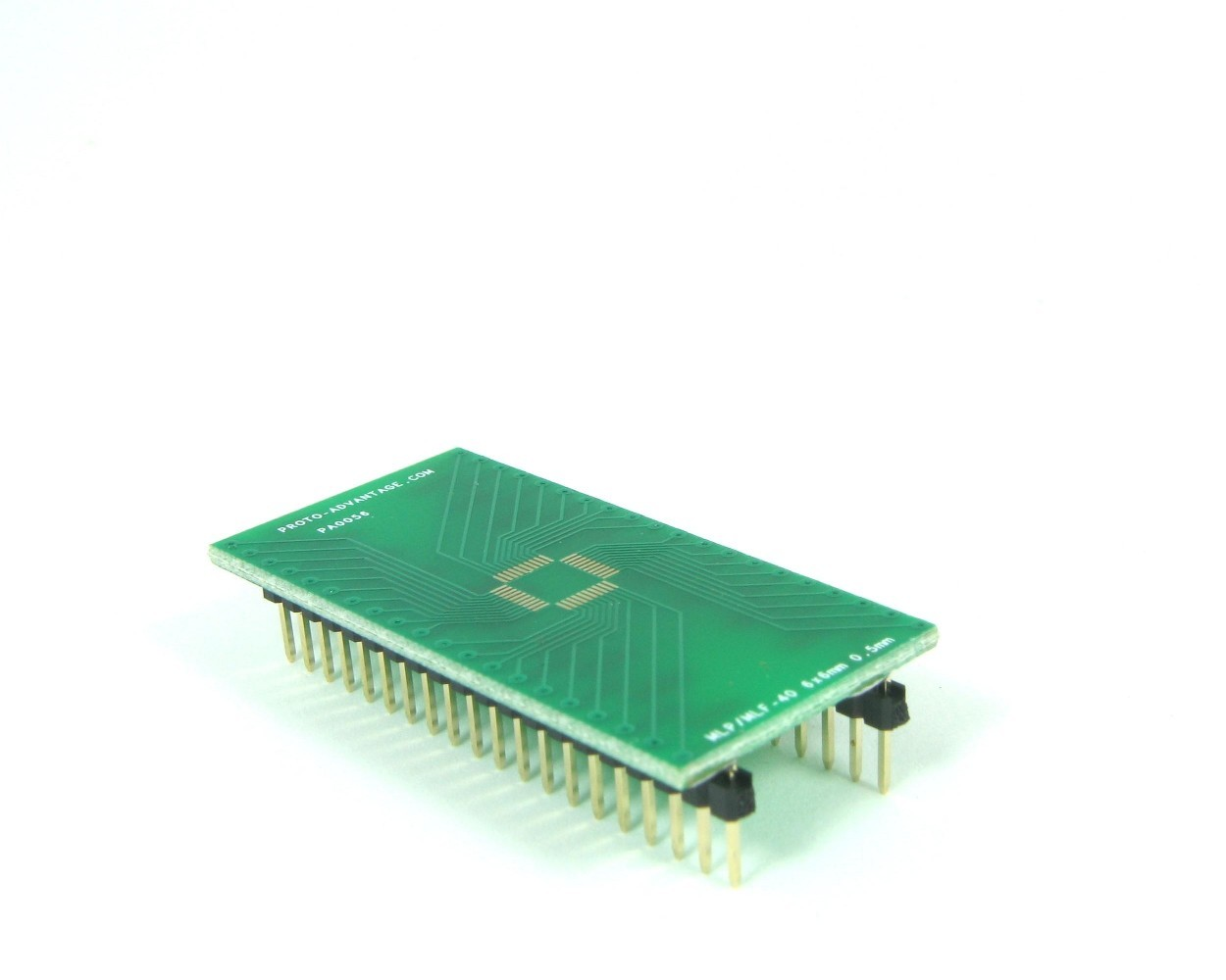 MLP/MLF-40 to DIP-40 SMT Adapter (0.5 mm pitch, 6 x 6 mm body)