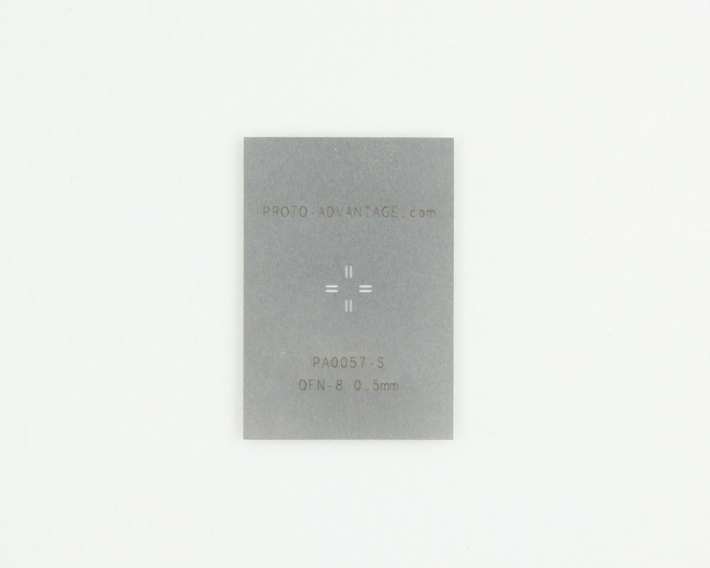 QFN-8 (0.5 mm pitch, 3 x 3 mm body) Stainless Steel Stencil