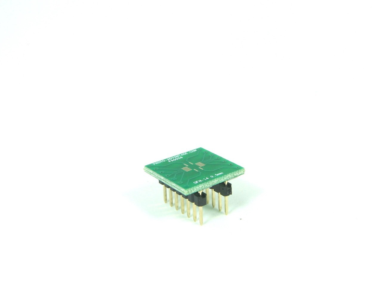 QFN-14 to DIP-14 SMT Adapter (0.5 mm pitch, 3.5 x 3.5 mm body)