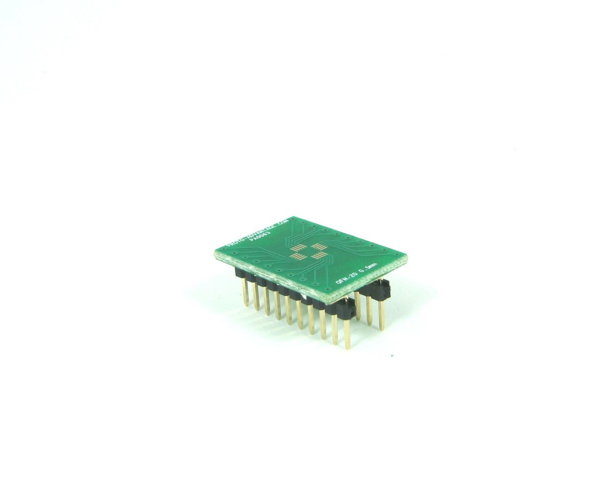 QFN-20 to DIP-20 SMT Adapter (0.5 mm pitch, 4 x 4 mm body)