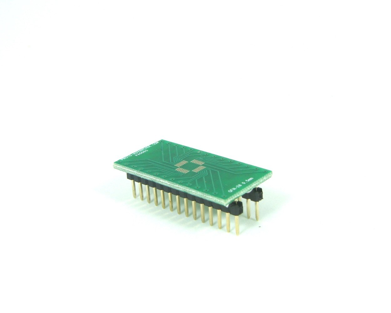 QFN-28 to DIP-28 SMT Adapter (0.5 mm pitch, 5 x 5 mm body)