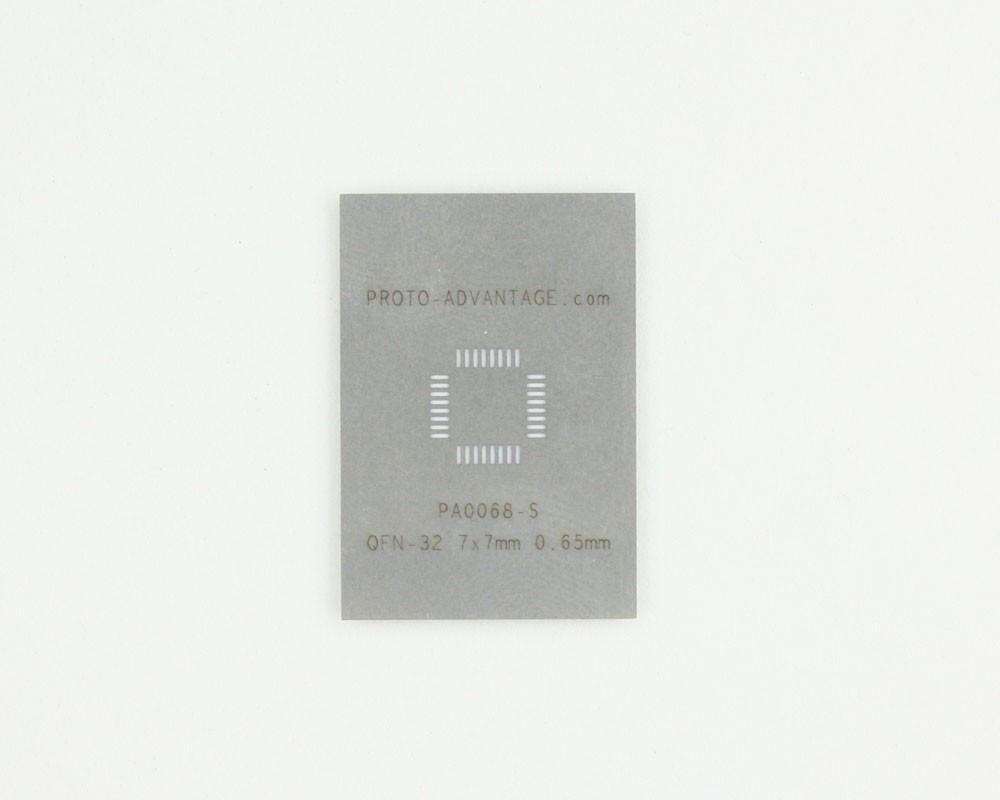 QFN-32 (0.65 mm pitch, 7 x 7 mm body) Stainless Steel Stencil