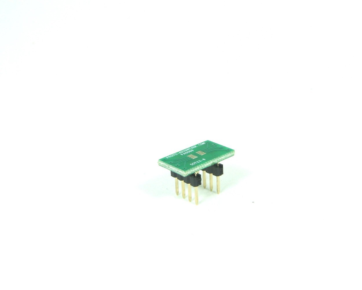 SOT23-8 to DIP-8 SMT Adapter (0.65 mm pitch)