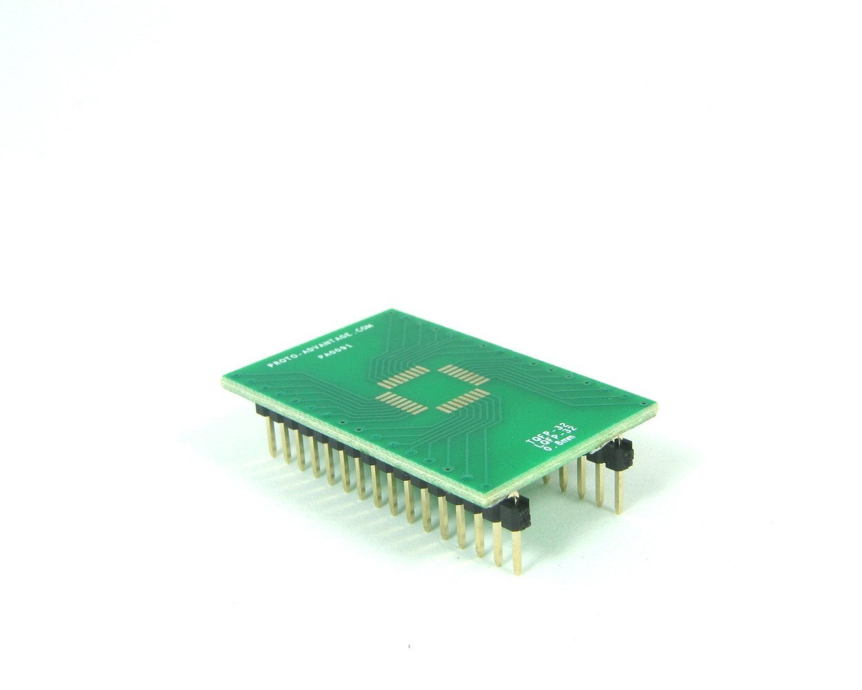 TQFP-32 to DIP-32 SMT Adapter (0.8 mm pitch, 7 x 7 mm body)