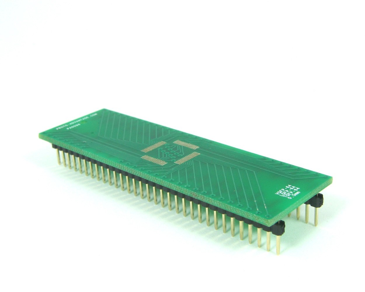 TQFP-64 to DIP-64 SMT Adapter (0.5 mm pitch, 10 x 10 mm body)