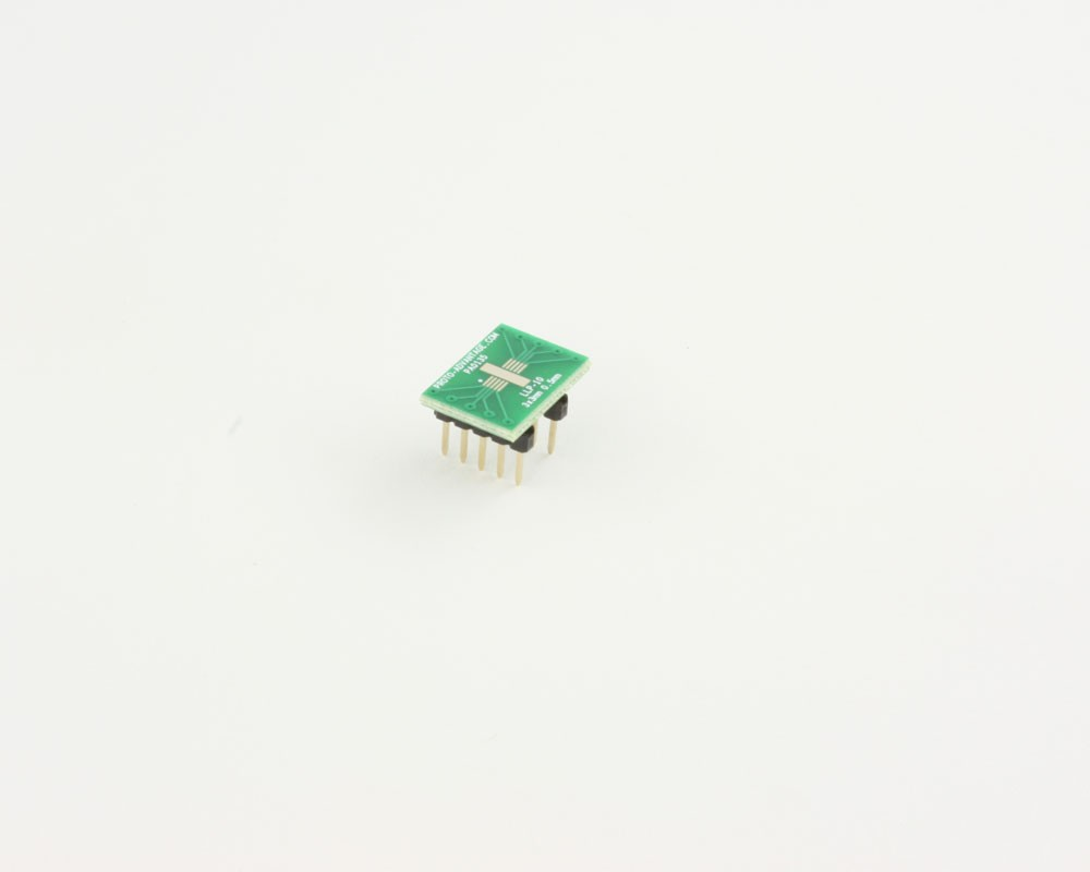 LLP-10 to DIP-10 SMT Adapter (0.5 mm pitch, 3 x 3 mm body)