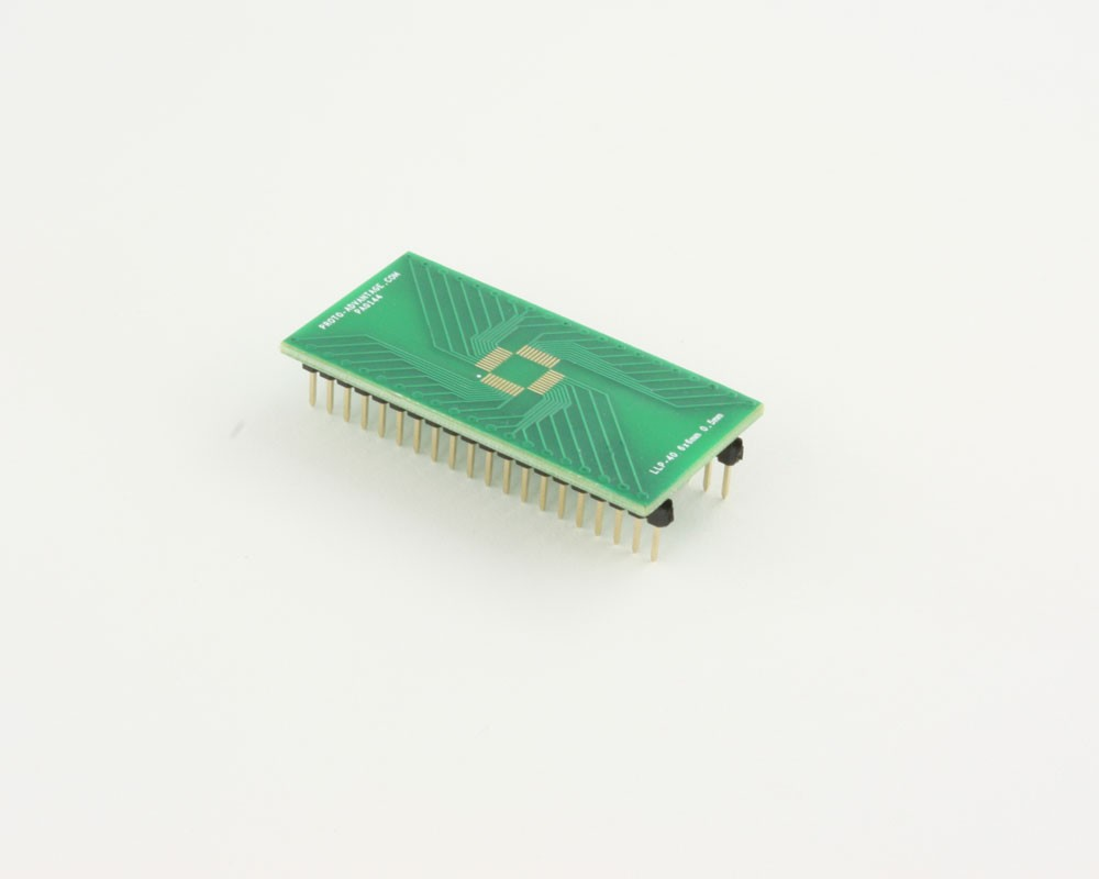 LLP-40 to DIP-40 SMT Adapter (0.5 mm pitch, 6 x 6 mm body)