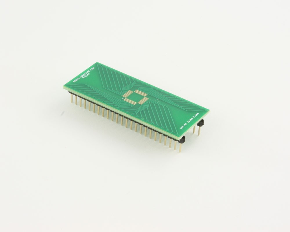LLP-48 to DIP-48 SMT Adapter (0.5 mm pitch, 7 x 7 mm body)