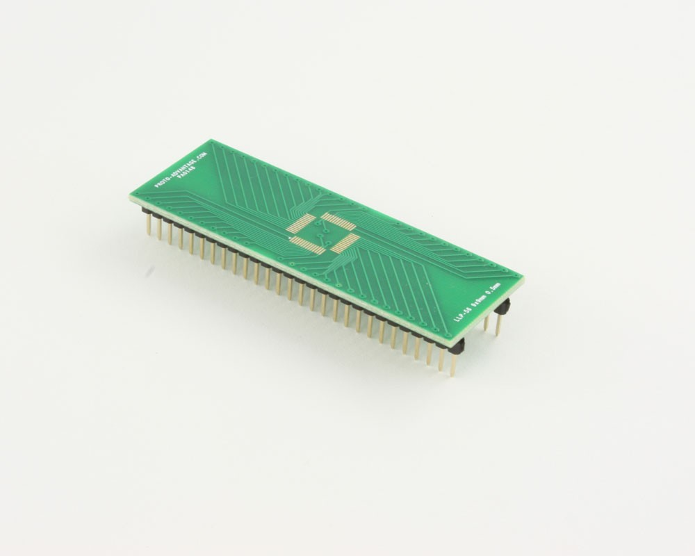 LLP-56 to DIP-56 SMT Adapter (0.5 mm pitch, 9 x 9 mm body)