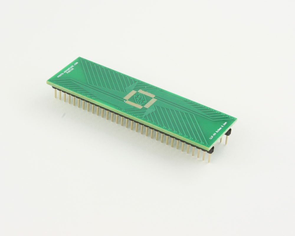 LLP-64 to DIP-64 SMT Adapter (0.5 mm pitch, 9 x 9 mm body)
