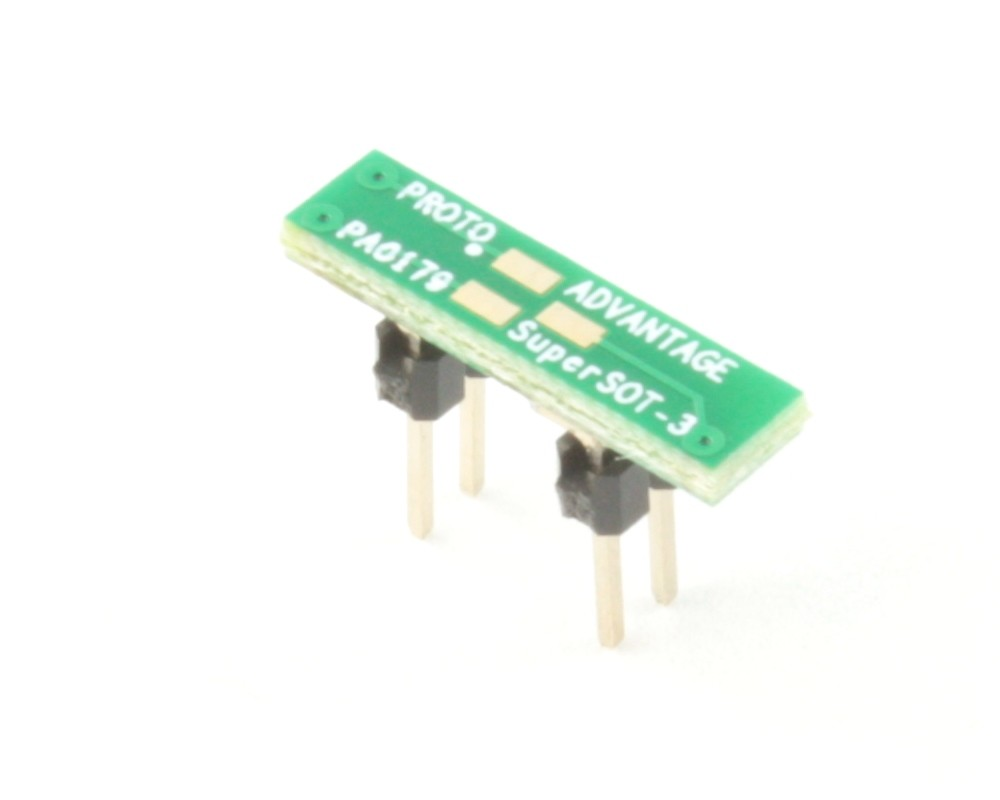 SuperSOT-3 to DIP-4 SMT Adapter (0.95 mm pitch, 3.0x1.5 mm body)