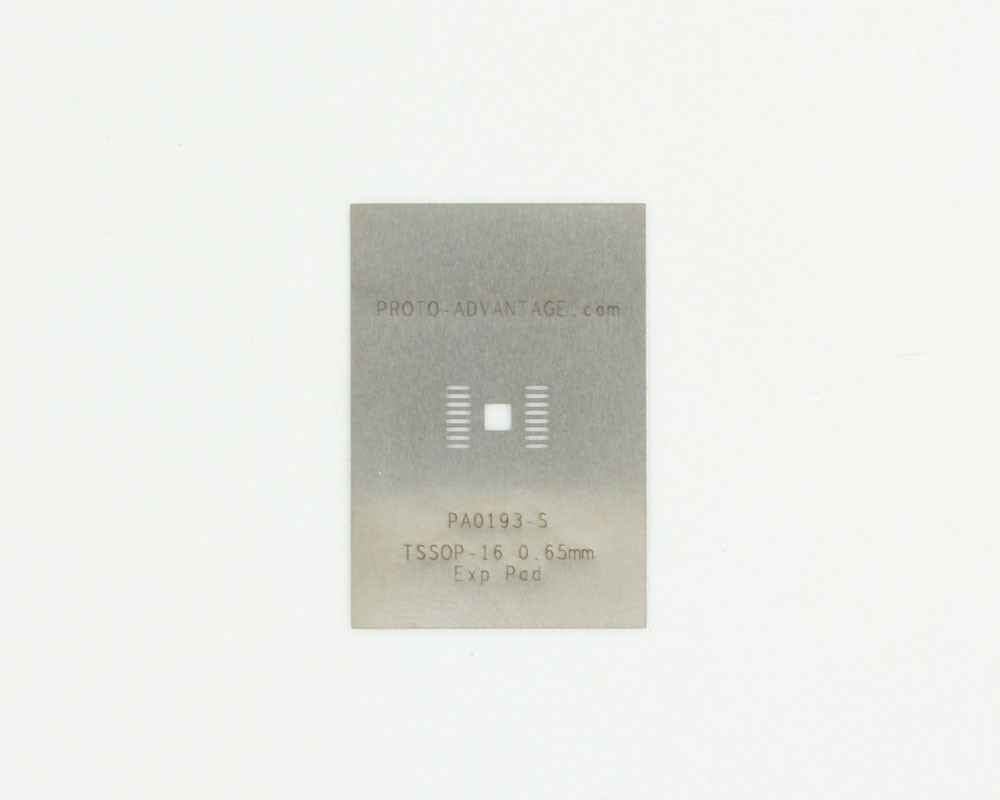 TSSOP-16-Exp-Pad (0.65 mm pitch) Stainless Steel Stencil