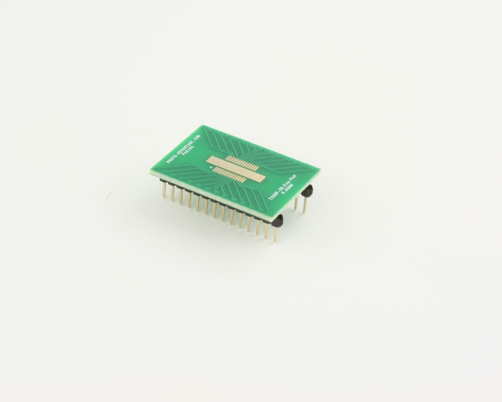 TSSOP-28-Exp-Pad to DIP-28 SMT Adapter (0.65 mm pitch)
