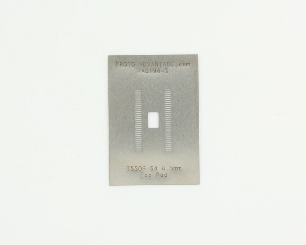 TSSOP-64-Exp-Pad (0.5 mm pitch) Stainless Steel Stencil