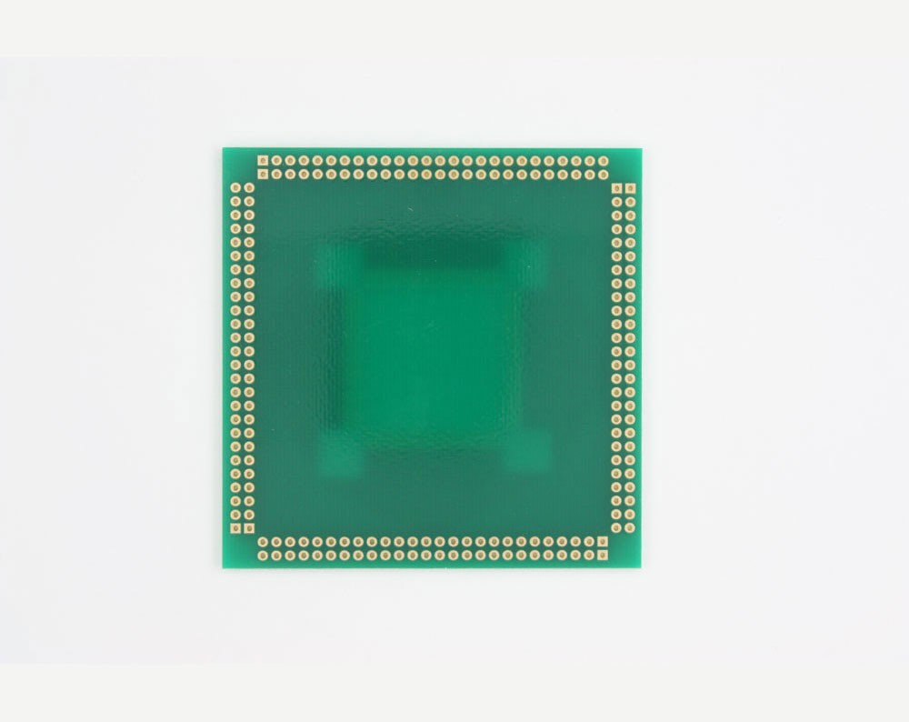 RQFP-208 to PGA-208 SMT Adapter (0.5 mm pitch, 28 x 28 mm body)
