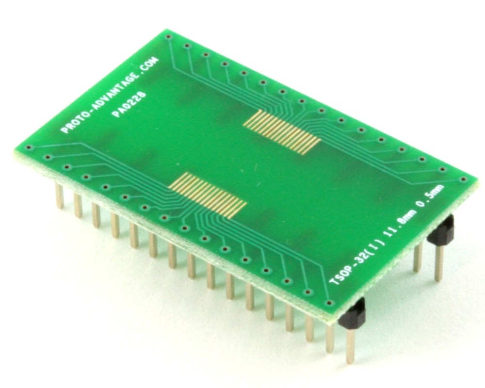 TSOP-32(I) to DIP-32 SMT Adapter (0.5 mm pitch, 11.8 mm body)