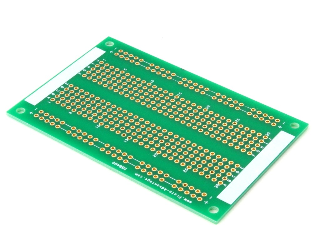 400 pts solder-in breadboard (Exact Solderless Match)